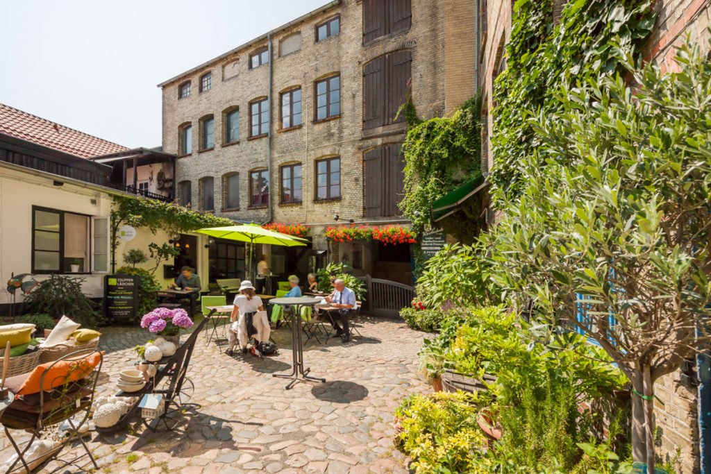 Impressionen aus dem Blumenhof, Rote Straße, Flensburg